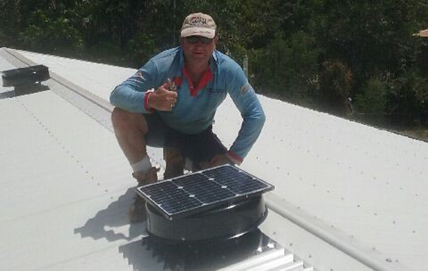 Mick from Cairns Total Roof Supplies with 2 units installed in Weipa QLD.